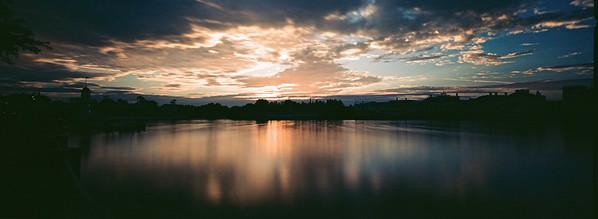 Epcot Resort Area Long Exposure Sunrise