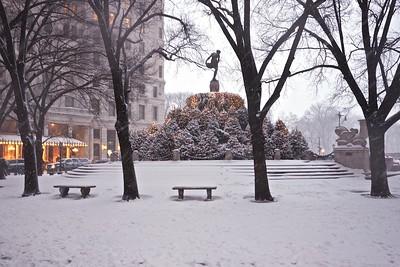 Saks Fifth Avenue Windows In Snow
