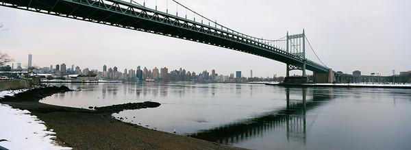 21450002Triboro Bridge, Grey Morning Skyline Panorama