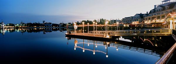 WDW Boardwalk Ferry Terminal Panorama