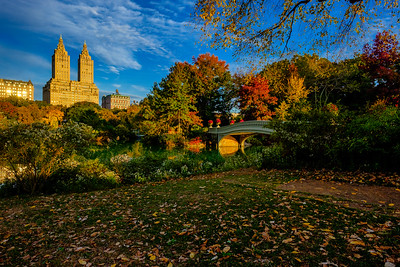 Bow Bridge , Central Park West, and Fall Color