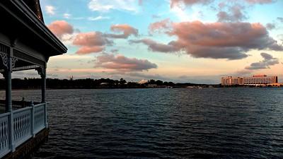 View From Narcoosee's: Seven Seas Lagoon, Magic Kingdom, and Contemporary/Bay Lake Resorts
