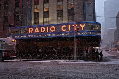 Radio City Music Hall In Snow