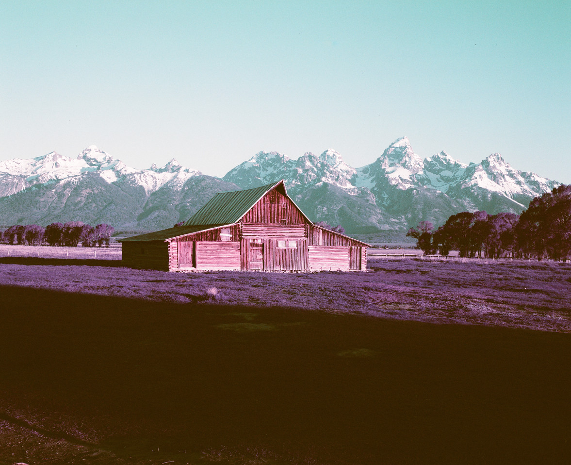Moulton Barn, Purple Lomochrome