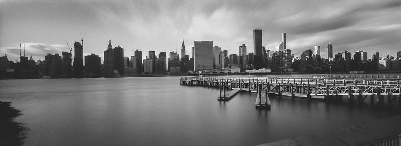 Midtown Manhattan Long Exposure Skyline Panorama