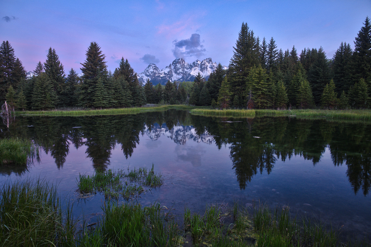 Grand Tetons from schwabacher landing