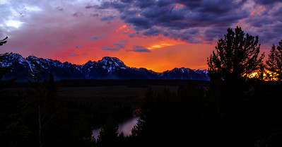 Sky Fire In The Tetons