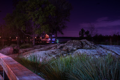 WDW WIlderness Lodge Ferry Dock At Night