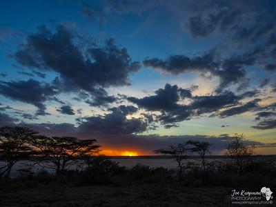Sunset at Lake Ndutu