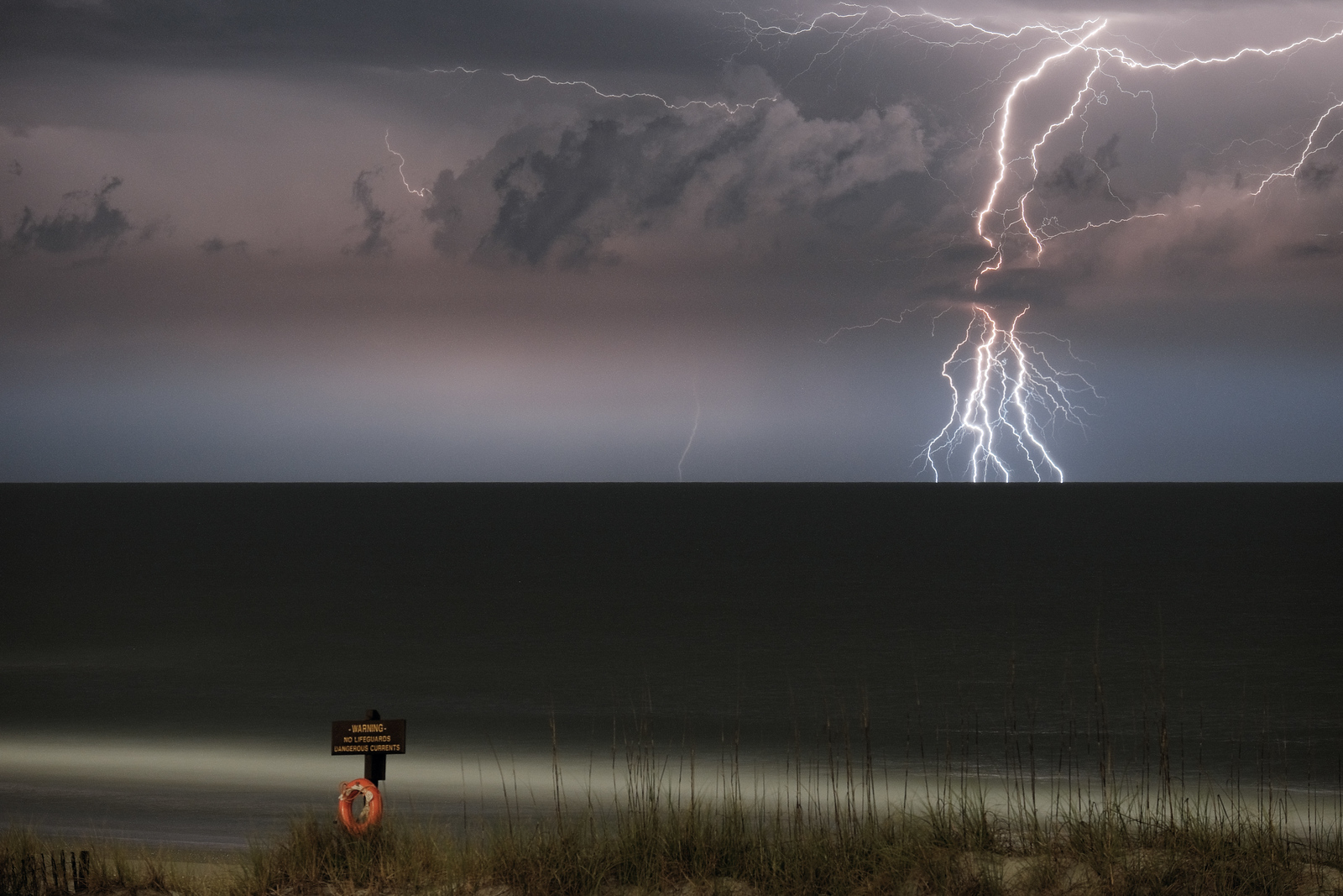 Lightning at Figure 8 Island North Carolina