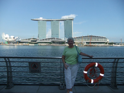Just across the bay from the Marina Bay Sands.  I need to get her up to the Sky Park before she leaves!