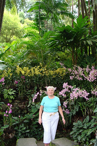 Mom absolutely was stunned by the flowers and plants at the Singapore Botanical Gardens.  The gardens are FREE - that's right...FREE since the gardens are considered a national park.  Oh...and they are HUGE