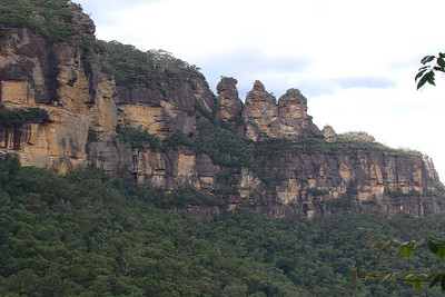 "The ""three sisters"" rocks They are formed from sandstone - so I probably don't think they'll be around forever"