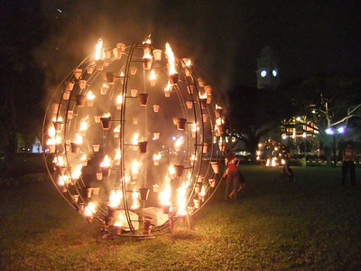 Part of the Fire Garden kicking off the Singapore Arts Festival 2010