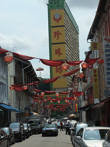 Wallking into Chinatown....definitely a bit different than the USA