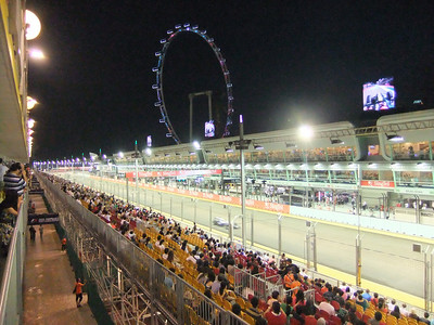 The Singapore Grand Prix 2010 - the world's only Nighttime F1 Street Race.  Had passes to one of the Club Suites during qualifying rounds (open bar = the ONLY way to enjoy auto racing!)