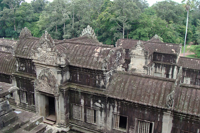 Another view from the top of Angkor Wat - looking down at the 2nd story courtyard