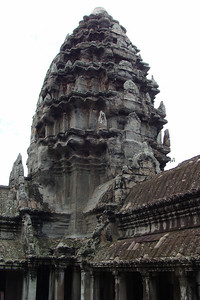 A close-up of one of the 4 lower towers