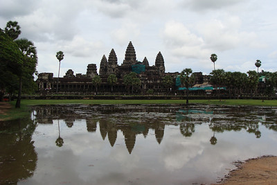 ...the towers that the natives believe were built not by man, but by the Gods - the crowning glory of the sanctuary of Angkor Wat