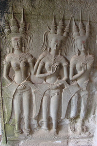 Some of the millions of carvings - all in great condition - one finds while walking through the passageways of Angkor Way