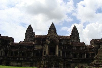 Angkor Wat - built in the early 12th centry and remains the largest religious monument on the planet