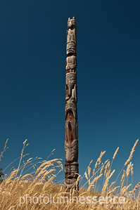 Indigenous totem pole, Vancouver, Canada