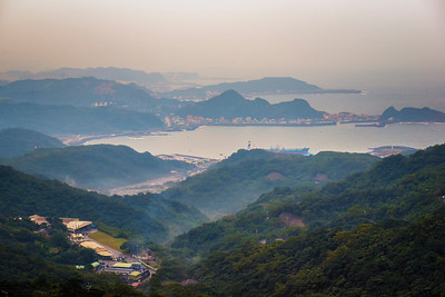 Ruifen Harbor (?) looking towards Keelung.