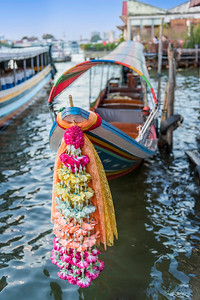 Decorated Bow of a Longtail Boat