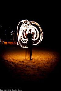 Roatan May 2012-1313  Fire Dancer in front of the Bananarama Dive resort.