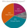 Who does Infertility Impact Pie Chart b