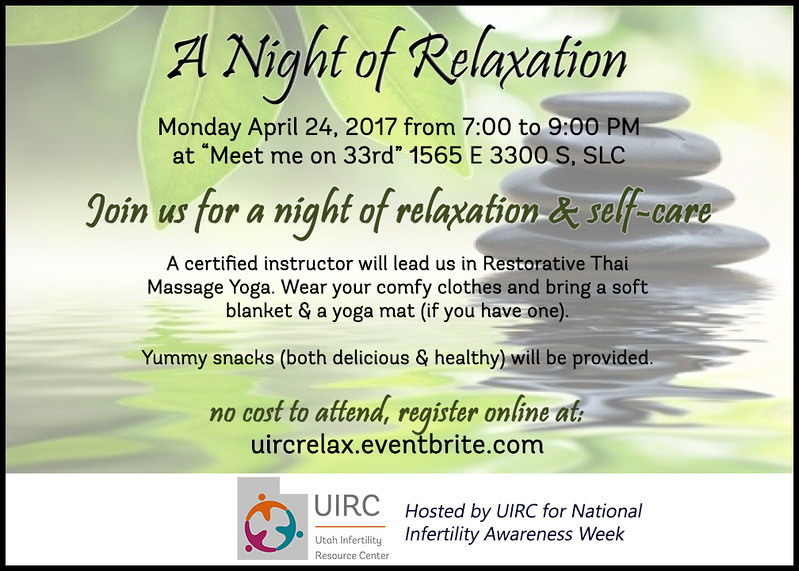 Relaxation Night Invite