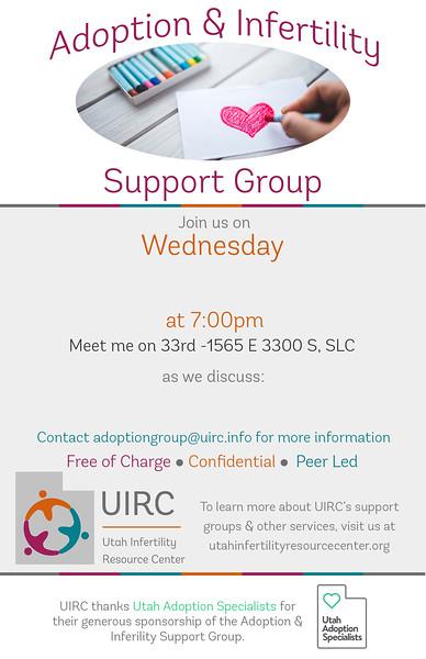 Adoption Group Monthly Invite UAS Sponsor 5x7