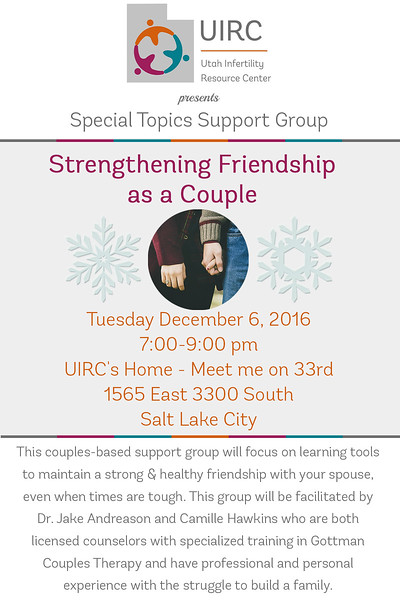 Special Topcis Support Group couple night