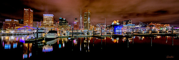 Baltimore Inner Harbor City Scape #3