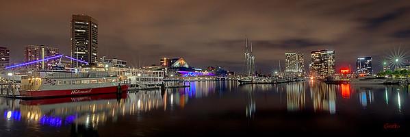 Baltimore Inner Harbor City Scape #4