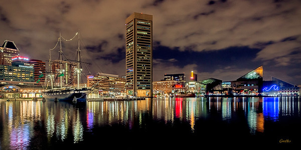 Baltimore Inner Harbor City Scape #5