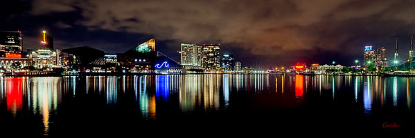 Baltimore Inner Harbor City Scape #6