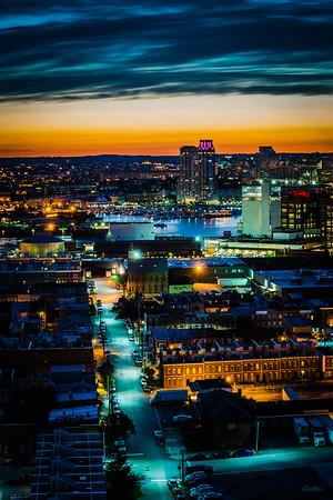 Purple Lights on Harbor View Condo