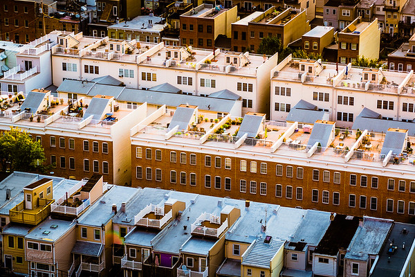 Rooftops of Row Homes