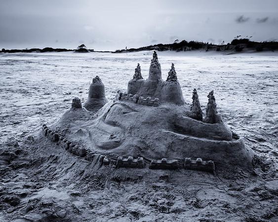 Sand Castle B&W