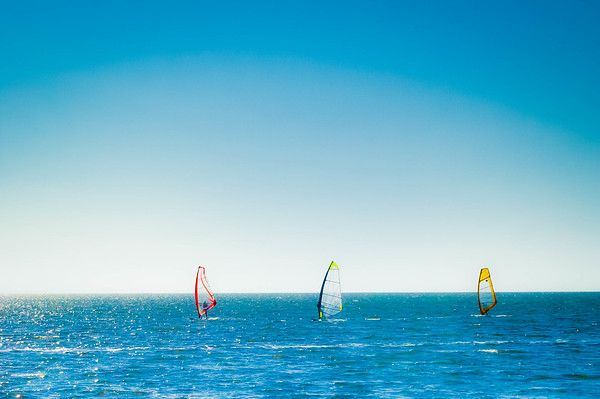 Wind Surfing at Pamlico Sound #1