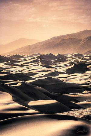 """Old Time"" View of the Great Sand Dunes, Vintage Sepia"