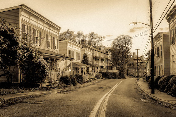 Looking Down Oella Ave. #1, Antique Tone