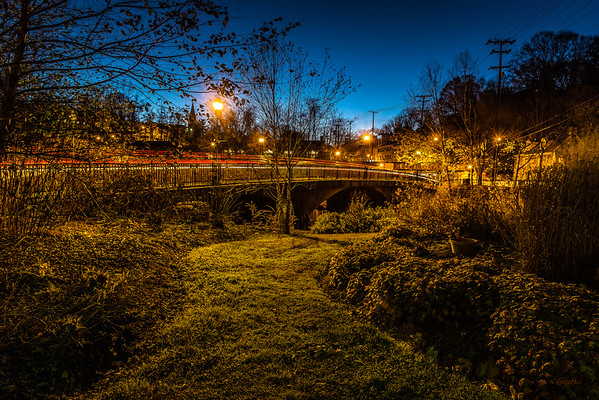 Patapsco River Bridge at Night