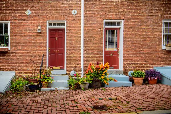 Row House Doors on Oella Ave.