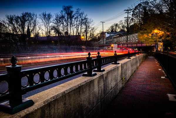 Patapsco River Bridge at Dusk