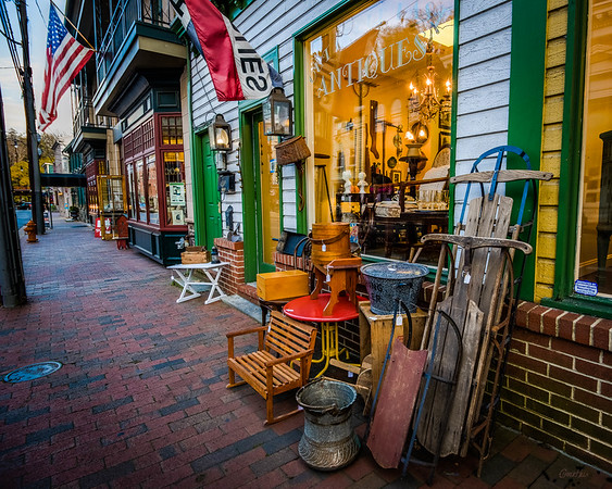 Looking Down Main Stree From Out of Our Past Antiques