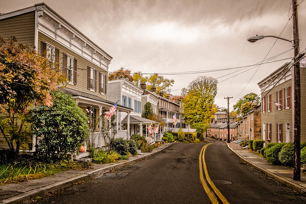 Looking Down Oella Ave. #3, Old-Time Color