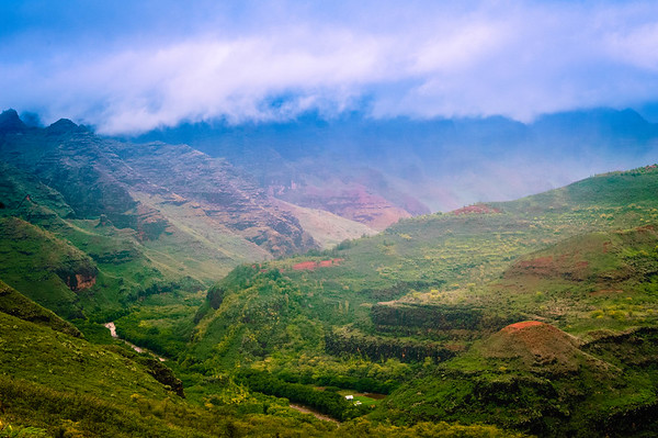 Fog Lifting from Waimea Canyon #1