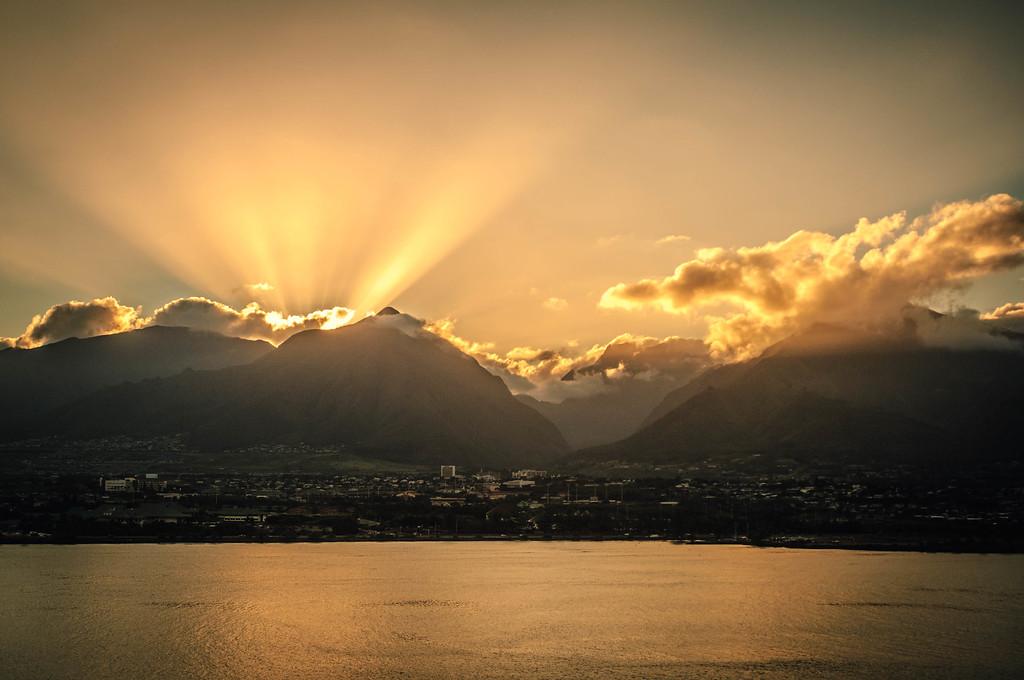 Sunsetting Over Wailuku #2
